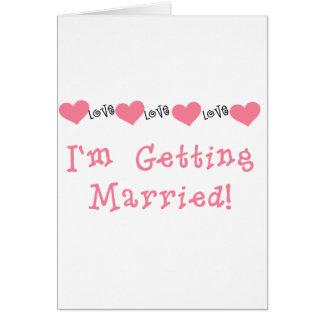 Melone-Herzen, die ich verheiratet erhalte Karte