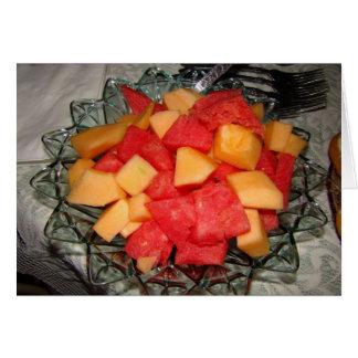 Melone-Klumpen u. Patio-Set Karte