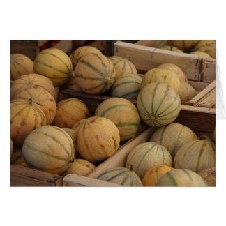 Melonen an einem Markt Karte
