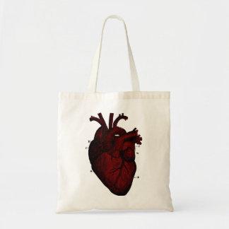Menschliche Herz-Tasche Budget Stoffbeutel
