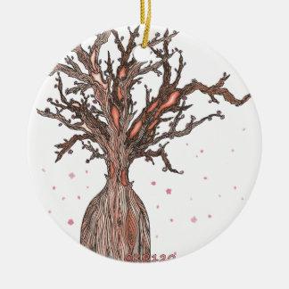 Menschlicher Kirschblüte-Baum Keramik Ornament