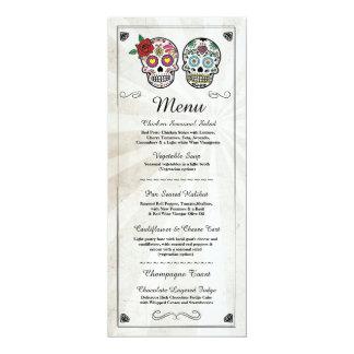 Menü-Hochzeits-Empfangs-rustikale 10,2 X 23,5 Cm Einladungskarte