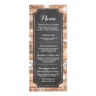 Menü-Hochzeits-Empfangs-rustikaler Karte