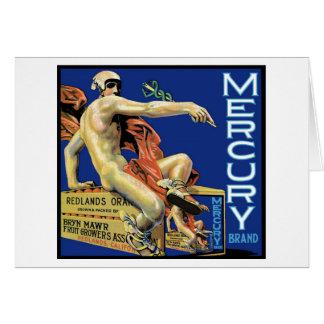 Mercury-Marken-Karte Karte
