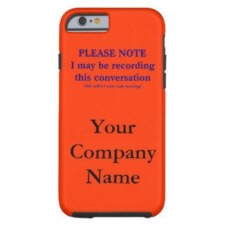 Merken Sie bitte, ich kann dieses Gespräch Tough iPhone 6 Hülle
