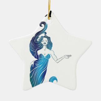 MERMOM niedliches Mädchen Keramik Ornament
