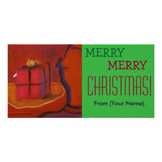 Merr frohe Weihnachten kundengerechtes Notecard Personalisierte Foto Karte