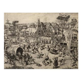 Messe von Heilig-Georges-Tag durch Pieter Bruegel Postkarte