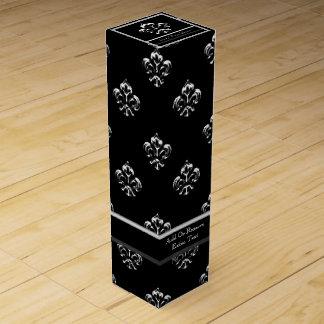 Metallische Lilie (Silber) Weinbox