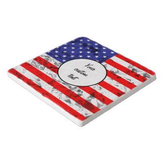 Metallischer Flagge-Entwurf 2 Töpfeuntersetzer