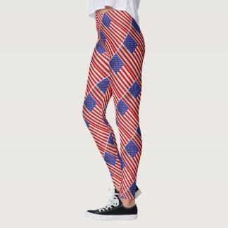 Metallischer Flagge-Entwurf Leggings
