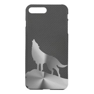 Metallischer Heulenwolf mit Kohlenstofffaser iPhone 8 Plus/7 Plus Hülle