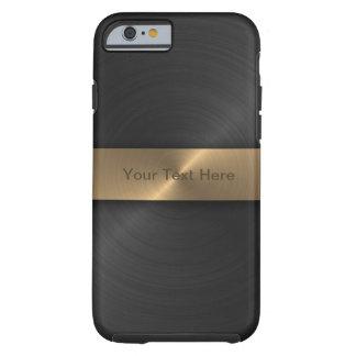Metallisches Schwarzes und Gold Tough iPhone 6 Hülle