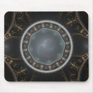 Metallisches verziertes Steampunk Fraktal-Bild Mousepad