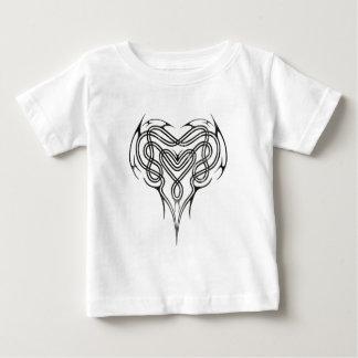 Metallkeltischer Herz-Knoten Baby T-shirt