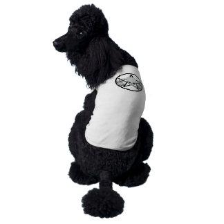 Metallpentagram-Hundeshirt Ärmelfreies Hunde-Shirt