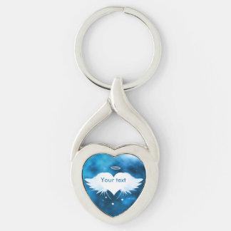 Metallverdrehtes Herz Keychain - Engel des Herzens Schlüsselanhänger