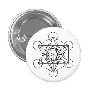 Metatron Würfel-heilige Geometrie Runder Button 2,5 Cm