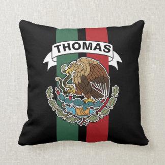 Mexikanische Flaggen-Rennen Stripes Kissen