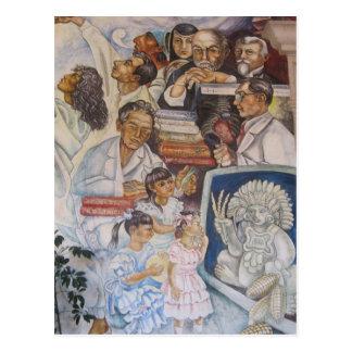 Mexikanische Wandkunst Postkarten