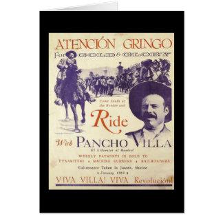 Mexikanischer Held-General Pancho Villa Karte