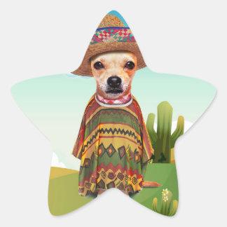 Mexikanischer Hund, Chihuahua Stern-Aufkleber