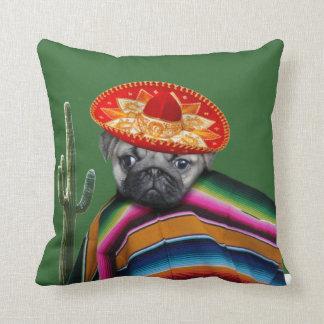 Mexikanischer Mopshund Zierkissen