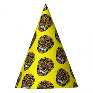 Mexikanischer Zuckerschädel-Muster-Tag der Toten Partyhütchen