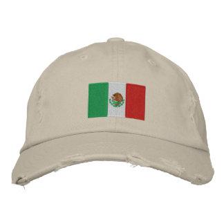 Mexiko Flagge gestickter Chino-Twillhut Bestickte Caps