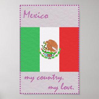 Mexiko mein Land meine Liebe Poster