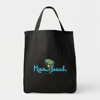 Miami Beach, Florida-Palmen-Schwarzes Einkaufstasche