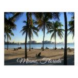 Miami Beach Florida, Sonnenuntergang-Postkarte
