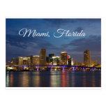 Miami Beach-Skyline-Florida-Reise-Postkarte Postkarte