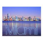 Miami, die magische Stadt an der Dämmerung Postkarte