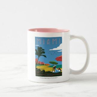 Miami, FL Zweifarbige Tasse