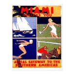 Miami-Reise-Plakat 1925 Postkarten