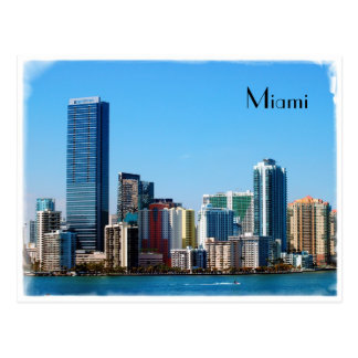 Miami-Skyline - Postkarte