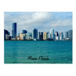 Miami-Skyline-Postkarte