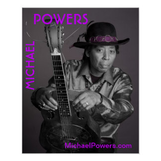 Michael-Power Plakat, Foto durch M.Weintrob Poster