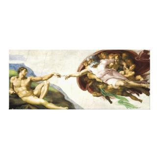MICHELANGELO - die Schaffung von Adam 1512 Leinwanddruck