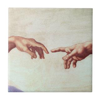Michelangelo-Hände Kleine Quadratische Fliese