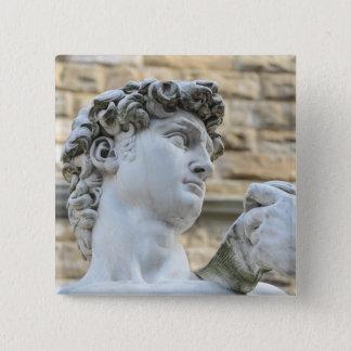 Michelangelos David, Florenz Italien Quadratischer Button 5,1 Cm