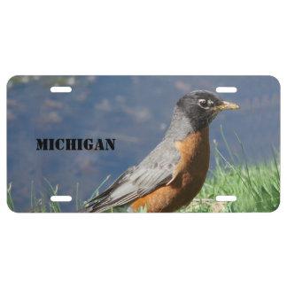 Michigan-Staats-Vogel US Nummernschild