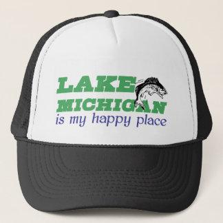 Michigansee ist mein glücklicher Platz Truckerkappe
