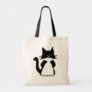 Miezekatze-Katzen-Bedeckungs-Mund Budget Stoffbeutel
