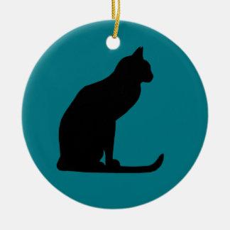 Miezekatze-Weihnachten Keramik Ornament