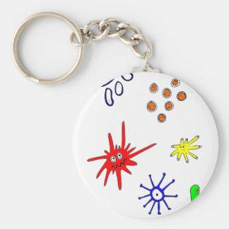 Mikroben Standard Runder Schlüsselanhänger