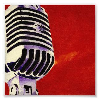 Mikrofon-Kunst-Druck Photodrucke