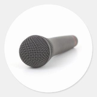 Mikrofon Runder Aufkleber