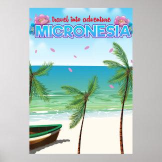 """Mikronesien """"Reise in Abenteuer """" Poster"""
